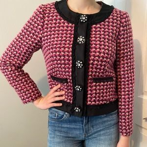 J Crew Collection wool boucle jacket